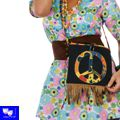 Bolso flower power hippie unisex