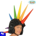 Casco hinchable orgullo, pinchos cresta multicolor