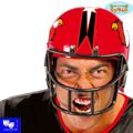 Casco rugby football americano