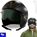 Casco piloto de jet tipo top gun adulto