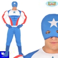 Disfraz superheroe capitan superstar americano
