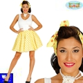 Falda set Pin Up amarilla Grease rock G
