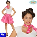 Falda set Pin Up rosa Grease Rock G