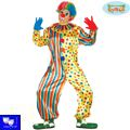 Disfraz payaso clown multicolor borlas