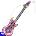 Guitarra hinchable hippie flower power