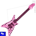 Guitarra hinchable rock heavy puntas rosa