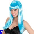 Peluca Beautiful azul celeste con flequillo