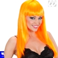 Peluca Beautiful naranja con flequillo