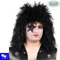 Peluca Rockero negra kiss heavy