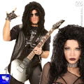 Peluca hard rock heavy slash metal unisex