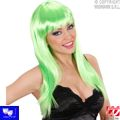 Peluca Beautiful verde con flequillo