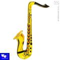 Saxofon hinchable amarillo  55 cm jazz