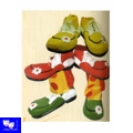 Zapatos de Payaso Clown Infantil Goma