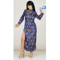 Disfraz China Oriental  Raso Satin Azul