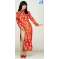 Disfraz China Oriental Raso Satin Rojo