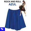 Faldas Rock And Roll Azul tipo grease pin up