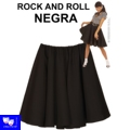 Faldas Rock And Roll Negra tipo Grease Pin Up