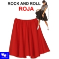 Faldas Rock And Roll Roja tipo grease pin up