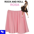 Faldas Rock And Roll rosa tipo grease pin up