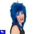 Peluca punk rock superstar azul Unisex