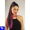 Extension mechas rosas con pinza