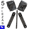 Set 5 Piezas Heavy Motero Punk Sado rock